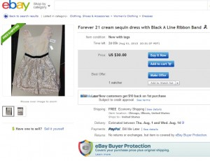 Sample eBay posting