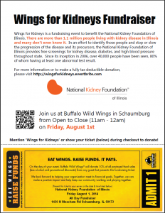 Wings for Kidneys flyer
