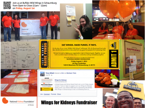 Wings for Kidneys collage of photos